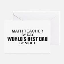 World's Best Dad - Math Teacher Greeting Cards (Pk
