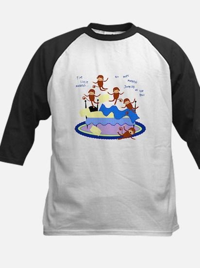 Five little Monkeys... Kids Baseball Jersey