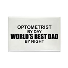 World's Best Dad - Optometrist Rectangle Magnet