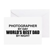 World's Best Dad - Photographer Greeting Cards (Pk