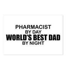 World's Best Dad - Pharmacist Postcards (Package o