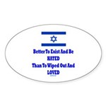 Israel's Right To Exist Sticker (Oval 10 pk)