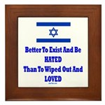 Israel's Right To Exist Framed Tile