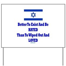 Israel's Right To Exist Yard Sign