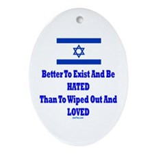 Israel's Right To Exist Ornament (Oval)