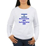 Israel's Right To Exist Women's Long Sleeve T-Shir