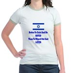 Israel's Right To Exist Jr. Ringer T-Shirt
