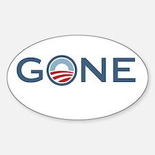 Obama is Gone Sticker (Oval)