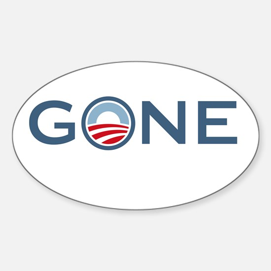 Obama is Gone Sticker (Oval)