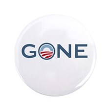 """Obama is Gone 3.5"""" Button"""