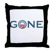 Obama is Gone Throw Pillow