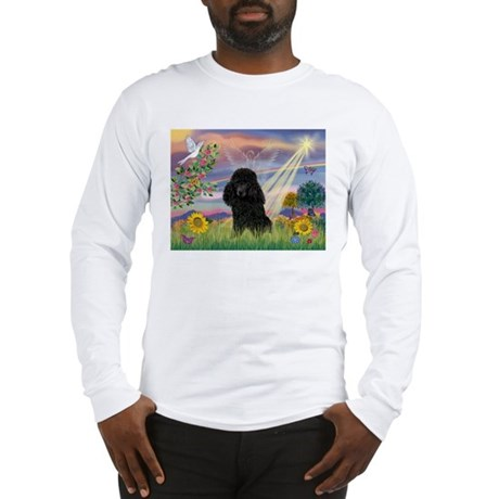 Cloud Angel & Poodle (#2) Long Sleeve T-Shirt