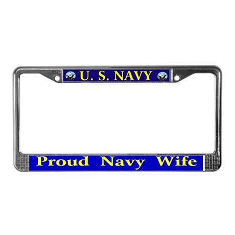 Proud Navy Wife Plate Frame