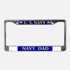 Proud Navy License Plate Frame