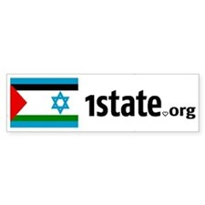One Isreal Palestine for Peace Bumper Sticker