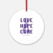 Cancer Awareness (lhc) Ornament (Round)