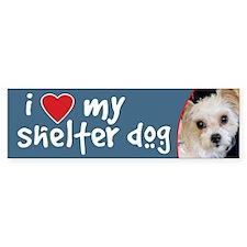 I Love My Shelter Dog-Yorkie/ShihTzu BumperBumper Sticker