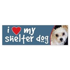 I Love My Shelter Dog-Yorkie/ShihTzu BumperBumper Sticker