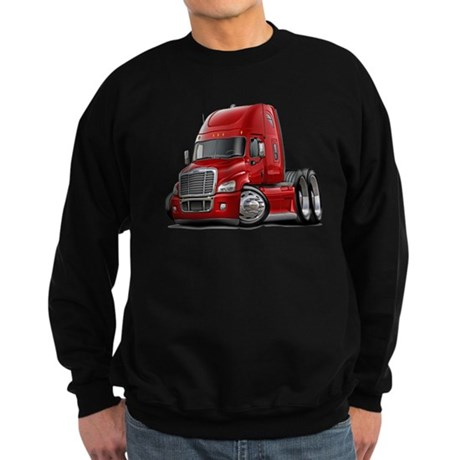 Freightliner Red Truck Sweatshirt (dark)