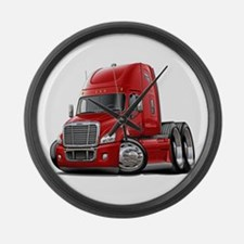 Freightliner Red Truck Large Wall Clock
