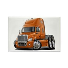 Freightliner Orange Truck Rectangle Magnet