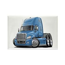 Freightliner Lt Blue Truck Rectangle Magnet