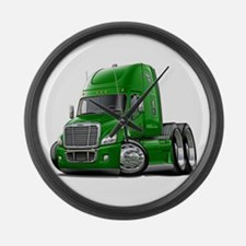 Freightliner Green Truck Large Wall Clock