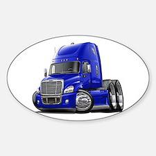 Freightliner Blue Truck Sticker (Oval)
