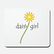 Yellow Daisy Girl Mousepad