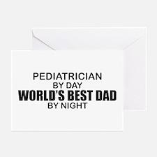 World's Best Dad - Pediatrician Greeting Cards (Pk