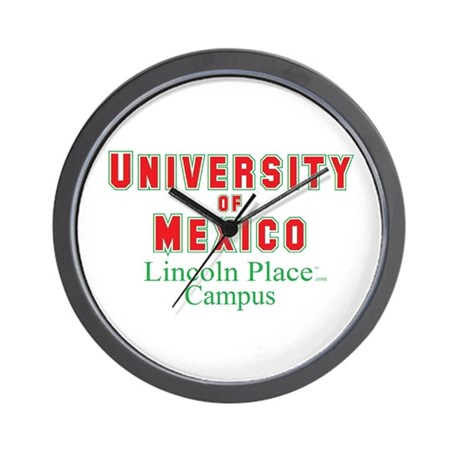 University of Mexico Lincoln Place Wall Clock