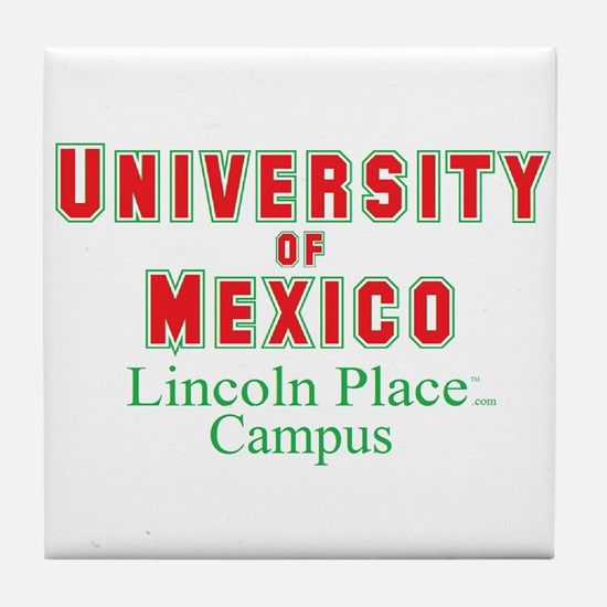 University of Mexico Lincoln Place Tile Coaster