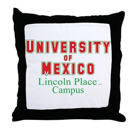 University of Mexico Lincoln Place Throw Pillow