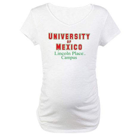 University of Mexico Lincoln Place Maternity T-Shi