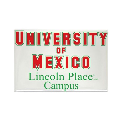 University of Mexico Lincoln Place Rectangle Magne