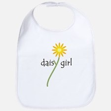 Yellow Daisy Girl Baby Bib
