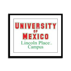 University of Mexico Lincoln Framed Panel Print