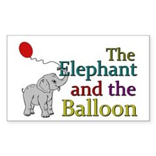 Elephant and the Balloon Decal