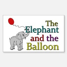 Elephant and the Balloon Sticker (Rectangle)