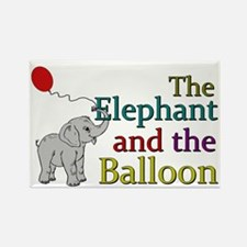Elephant and the Balloon Rectangle Magnet