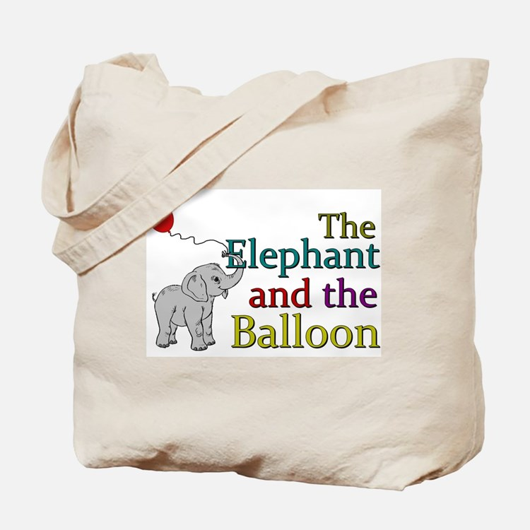 Elephant and the Balloon Tote Bag
