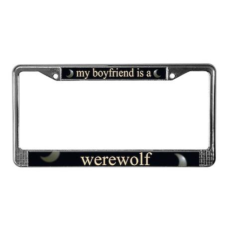 Boyfriend Werewolf Eclipse License Plate Frame