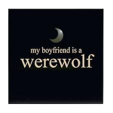 Boyfriend Werewolf Eclipse Tile Coaster