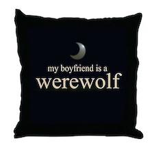 Boyfriend Werewolf Eclipse Throw Pillow