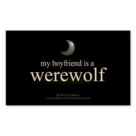 Boyfriend Werewolf Eclipse Sticker (Rectangle)