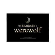 Boyfriend Werewolf Eclipse Rectangle Magnet