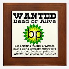 BP Wanted Poster Framed Tile