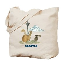 Seattle - Be Green Tote Bag