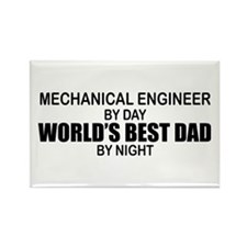 World's Best Dad - Mechanical Engineer Rectangle M