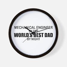 World's Best Dad - Mechanical Engineer Wall Clock
